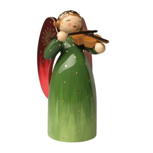 Richly Painted Green Angel with Violin by Wendt & Kühn Image