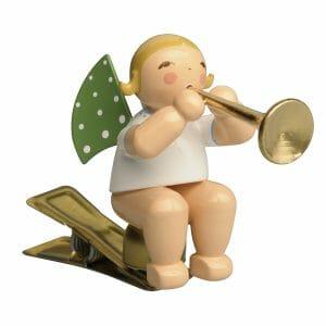 Angel with Ceremonial Trumpet on Clip by Wendt & Kühn Image