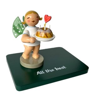 "Inscribed Base ""All the Best"" with Figurine by Wendt & Kühn Image"