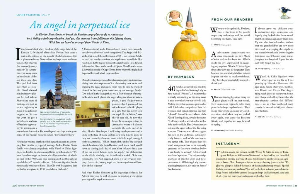 2020-2021 eleven dot post from Wendt & Kühn pages 20-21 Image