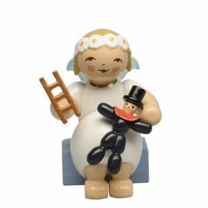 Marguerite Angel sitting with Prune Doll and Ladder by Wendt & Kühn Image