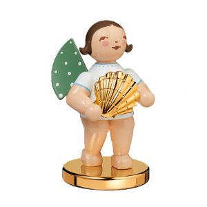 Gold Edition No 14 Discoverer Angel with Shell on a Metal Base Gold Plated Image